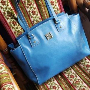 Dooney & Bourke Saffino leather tote style purse blue